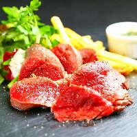 【肉刺し】牛・鹿・ラム・馬・鶏をご提供。