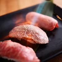 肉寿司や焼きしゃぶなど豊富な肉メニューもご用意!