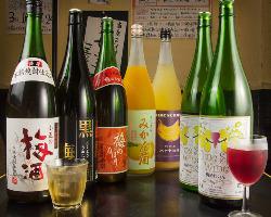 女性に人気の梅酒・ワイン・カクテル等 酒類豊富に取り揃えております