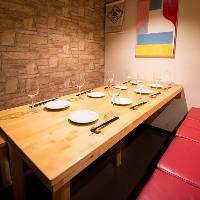 半個室空間のテーブル席☆ 4〜8名様でご予約下さい。
