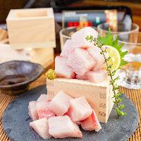 朝一で直送された鮮魚を捌き、上質な身だけを低価格でご提供♪