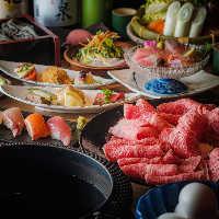 宴会コースは5000円~【鍋】または【網焼き】お選びください