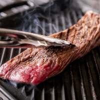 牛カイノミや牛ロースなど肉料理も自慢です♪