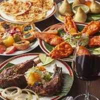 人気の「アフガニラムチョップ」は、インドワインと相性抜群!