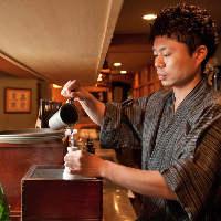 【お燗番】 日本酒の香りと旨味を引き出す絶妙な温度でご提供