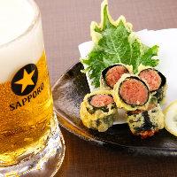 明太子のコクと粒々食感に爽やかなしその風味が合う!絶品天ぷら