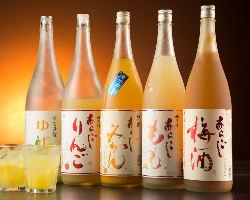 あらごし果実酒やカクテルなど女性に人気の甘いお酒も多数ご用意