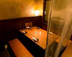 各種宴会や飲み会には、寛いで過ごせる半個室のお席をどうぞ