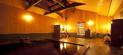 [稲村ヶ崎温泉を併設] 2階には系列の日帰り温泉施設をご用意