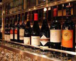 ワインも数多く取り揃えております!
