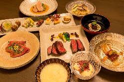 コース料理は青森県出身料理長厳選。吟味された食材をご用意。