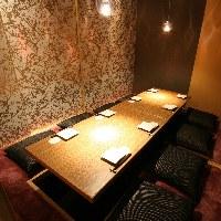 様々な場面でご利用いただける個室席でのお食事をお楽しみ下さい