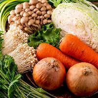 しゃぶしゃぶに欠かせない野菜は日本各地より旬の素材を調達!
