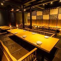 【個室のお席も多数完備】 個室は2名様〜最大60名様まで!