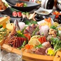 贅沢料理をメインとしたお得な飲み放題付きコース3000円~!