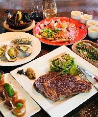 絶品牡蠣&豪華国産牛コース 150分飲み放題付¥6000