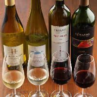 【豊富なワイン】 常時60〜70種ご用意している極上ワイン
