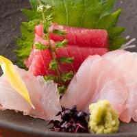 新鮮な天然物の魚をご堪能下さい。