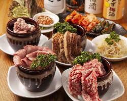 【当店名物!壺シリーズ】 秘伝のタレと絡み合う肉の旨味が倍増