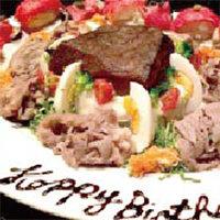 【記念日・誕生日に】 特製肉盛りプレートをご用意!