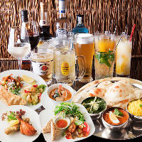 《ディナー》気軽にお楽しみ頂けるインド料理のセットメニュー