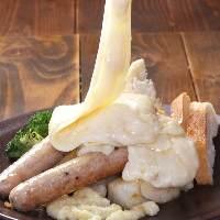 [ラクレットチーズ] こだわりの具材にトロトロのチーズで!