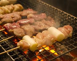 【赤城鶏・下仁田ポーク】使用 群馬産の銘柄肉の<焼き鳥・豚串>