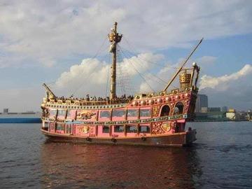 千葉みなと桟橋 海賊船アニバーサリークルーズ号