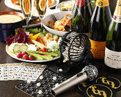 ビンゴ・マイクなど貸切パーティーに最適な設備も充実!