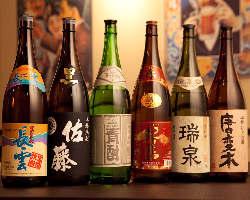 お酒好き必見!日本酒から焼酎まで豊富なラインナップが自慢♪