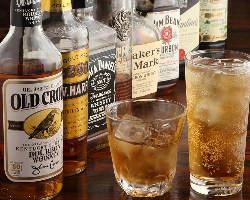 ウイスキーやカクテルなども豊富!お酒好きも大満足間違いなし
