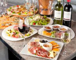 つまみやすく華やかなパーティー料理をビュッフェでご提供