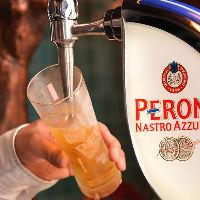 《ペローニ》 女性に大人気。上質な旨味のイタリア産生ビール。