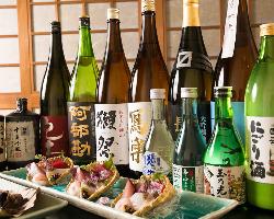 【厳選日本酒】 日本酒も季節ごとに変化をもたせて仕入れます