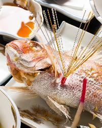 【お祝い】 尾頭付き鯛又はスパークリングワイン1本をサービス