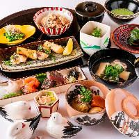 移ろう季節をお料理で表現。旬の食材をふんだんに取り入れた会席