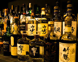 豊富なウィスキーの品数☆