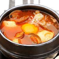 自家製タテギ(唐辛子)が味わい深い自慢のスンドゥブ