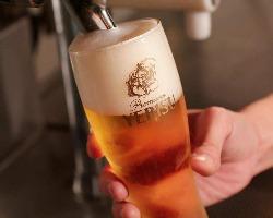 エビスビールや八海山など、人気メニューが勢揃いの飲み放題。
