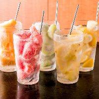 【生果実氷結サワー】 果実がごろごろ。フレッシュな酸味が◎