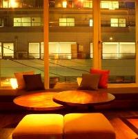 雰囲気の良い空間は女性のお客様にも人気。