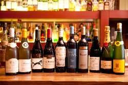 ワインの種類も豊富で各料理に お好みのものを是非。