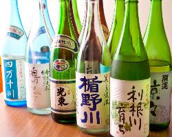 季節の吟醸酒他、知名度の低い美味しい地酒に出会えるかも!