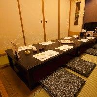【完全個室完備】 ゆったり寛げる個室は様々な人数に対応可能