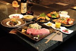 欅コース ※魚介料理はその日によって変わります