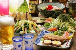 オリオンビール飲み放題付き沖縄料理満喫コース3500円~♪