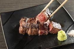 厳選食材をシェフが美味しく焼いてご提供致します。