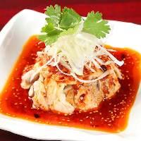 大人気!【四川よだれ鶏】辛さがたまらないで癖になります!