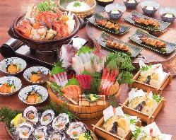 旬の魚介と庄や自慢の逸品を楽しむご宴会コース4,000円(税込)〜