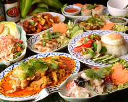 [お洒落にタイ宴会] 彩り鮮やかな旨辛タイ料理を囲んで乾杯♪